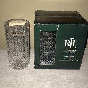 Ralph Lauren herringbone crystals highball glasses